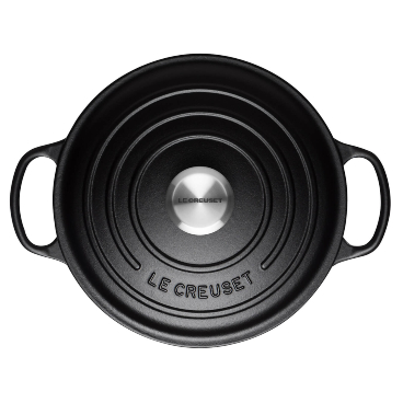 Satin Black & Flint Le Creuset