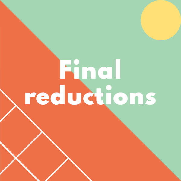 Sale: Further reductions up to 50% off