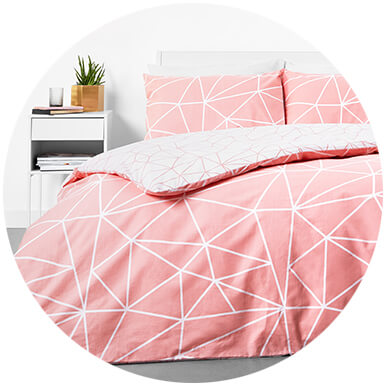 in homeware Duvet Set - Blush Geo