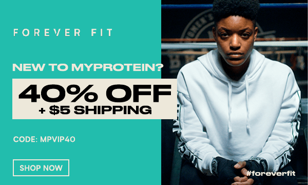 New to Myprotein? Welcome - take 40% off + $5 shipping. Use code: MPVIP40