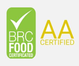 Notée AA pour la sûreté des aliments