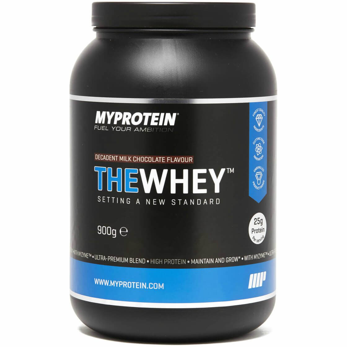 tub of thewhey protein blend