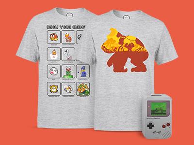 Gratis Spardose beim Kauf eines Nintendo T-Shirts