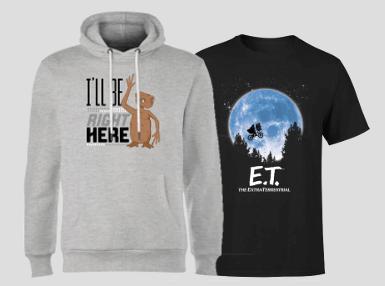 E.T. T-Shirt und E.T. Hoodies nur 27,99€