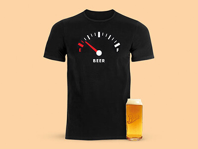 Free Beercan Glass with Beershield T-Shirts
