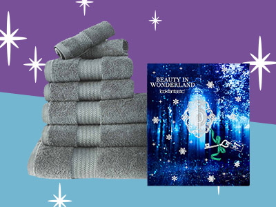 Free 7 piece restmor towel bale with LookFantastic Advent Calendar