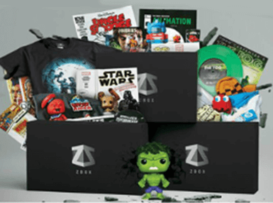 Free Welcome ZBOX With 10 pack of licensed Geeky t-shirts