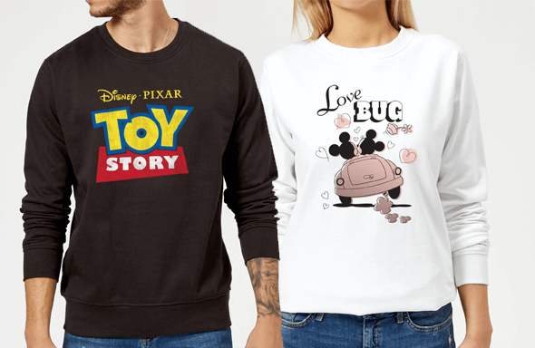 2 For £35 Officially Licensed Disney Sweatshirts