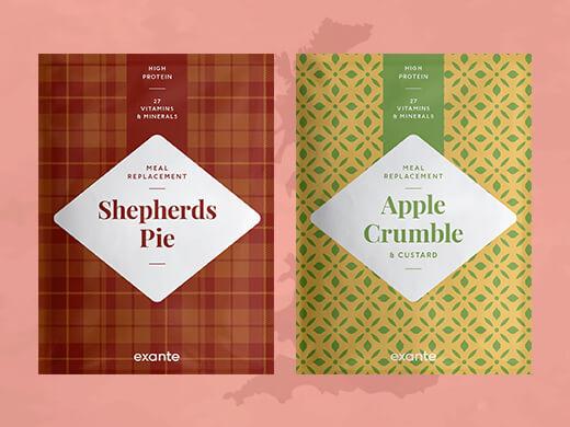 Shepherd's Pie and apple crumble dessert