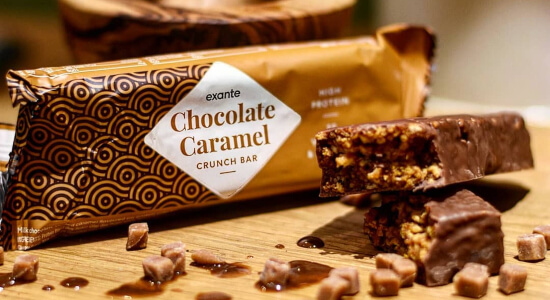 Barrita Crujiente de Chocolate y Caramelo para adelgazar de la Dieta Exante España