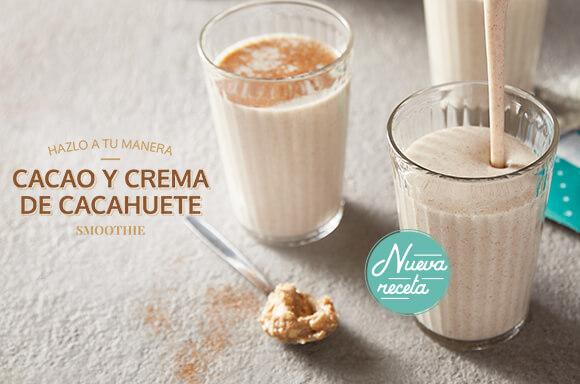 Smoothie de Cacao y Crema de Cacahuete