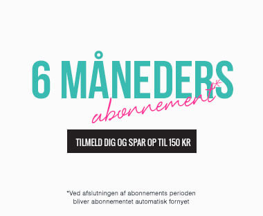 tekst: 6 måneders abonnement for Beauty Box