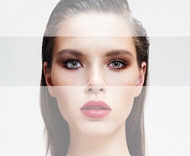 Lord & Berry model med øjne fremhævet