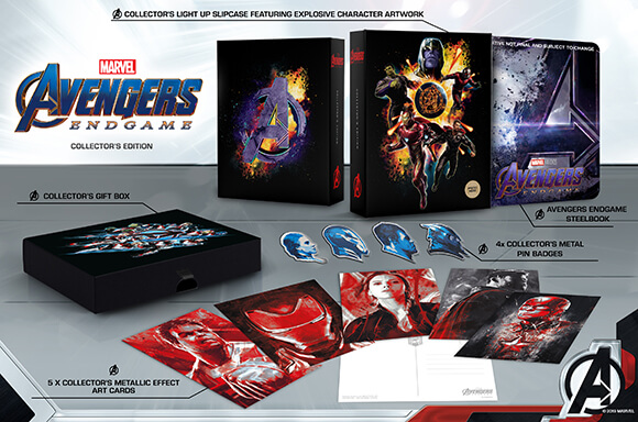 AVENGERS: ENDGAME<BR> 3D & 4K UHD COLLECTOR'S EDITION STEELBOOKS</br>