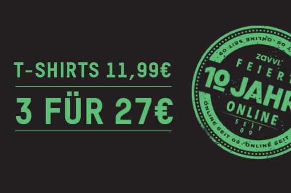 T-SHIRTS JE NUR 11,99€ ODER 3 FÜR 27€