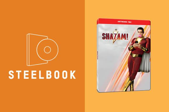 SHAZAM 4K STEELBOOK PAKET
