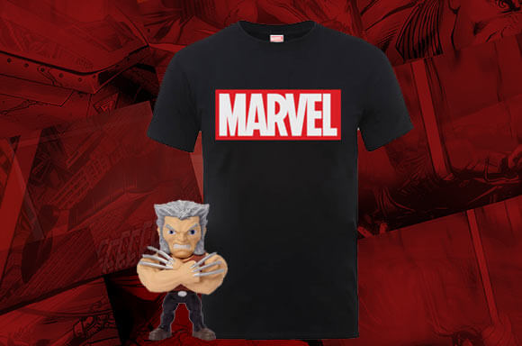 FREE WOLVERINE METAL DIE CAST FIGURE WITH MARVEL T-SHIRT