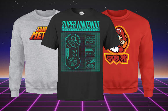 FREE NINTENDO T-SHIRT WITH NINTENDO SWEATSHIRT + FREE DELIVERY