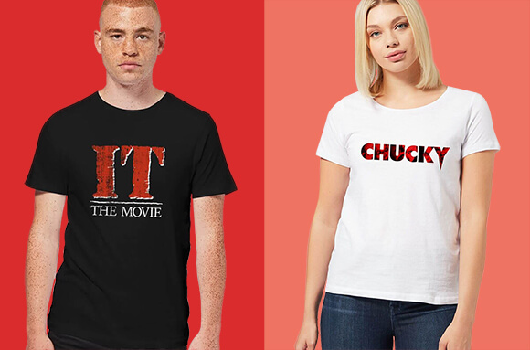 HORROR T-SHIRTS ONLY £8.99 WITH FREE DELIVERY