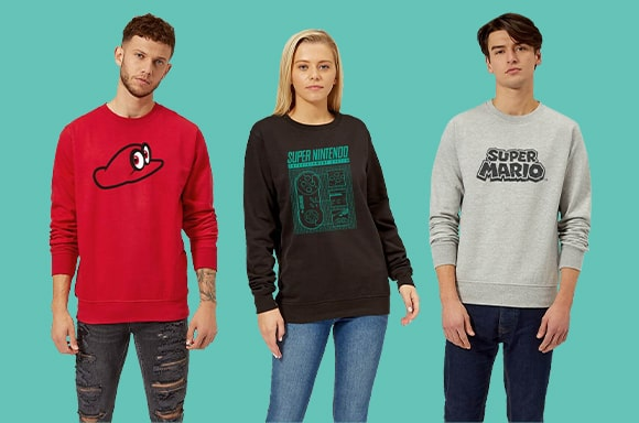 NINTENDO JUMPERS ONLY £14.99