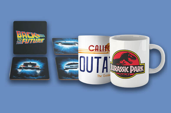 4 Mugs & Coaster Set for only £17.99