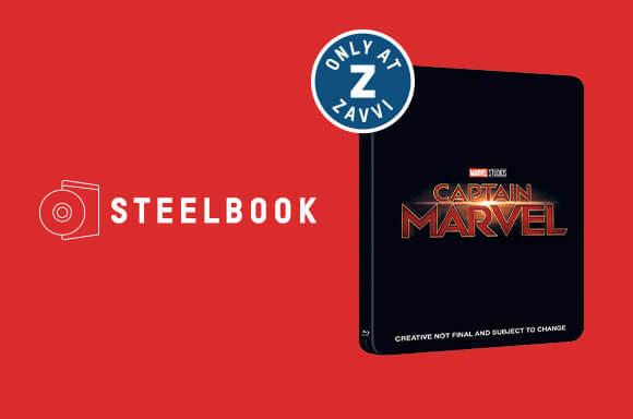 CAPTAIN MARVEL<br> 3D & 4K UHD STEELBOOKS</br>