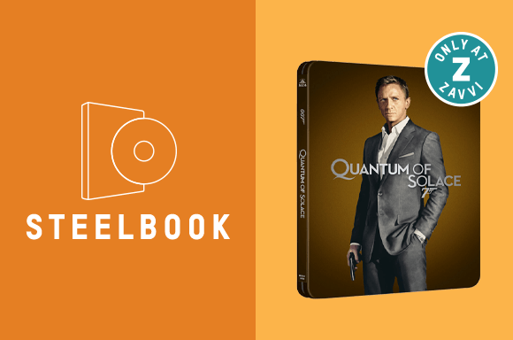 QUANTUM OF SOLACE STEELBOOK<BR> 4K ULTRA HD & BLU-RAY STEELBOOK