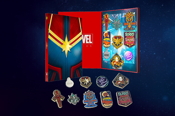 CAPTAIN MARVEL LIMITED PIN SET