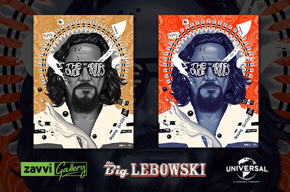 THE BIG LEBOWSKI ZAVVI EXCLUSIVE SCREENPRINTS