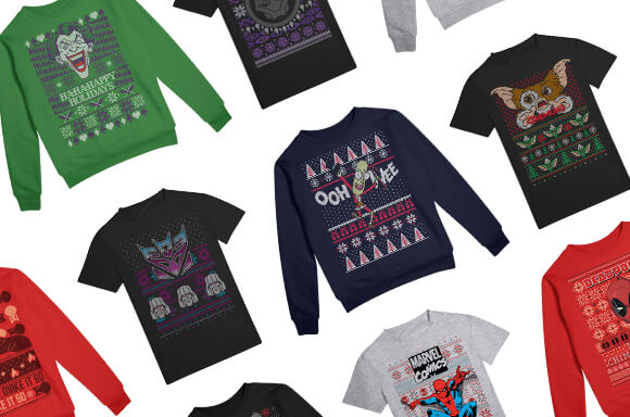 XMAS JUMPERS FROM ONLY £18.99 <br>XMAS T-SHIRTS ONLY £12.99
