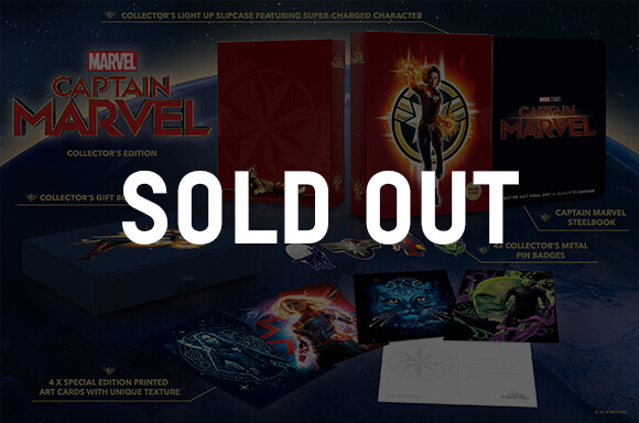 CAPTAIN MARVEL 3D & 4K UHD<br> COLLECTOR'S EDITION STEELBOOKS</br>