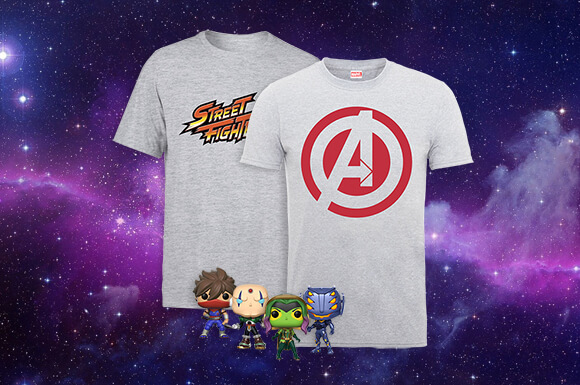 LOT T-SHIRT + 4 POP! VINYL