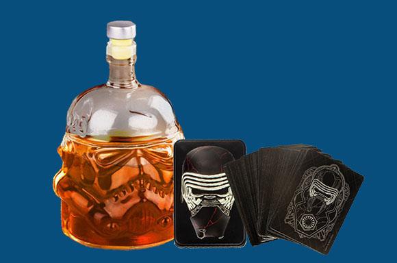 Lot Star Wars Decanter + Jeu de Cartes