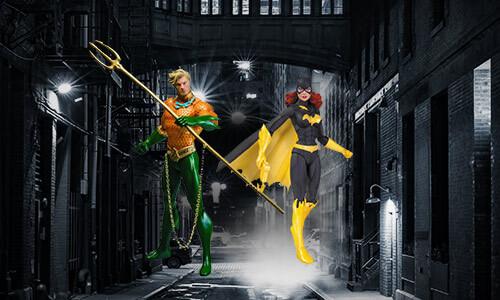 FIGURINES DC COMICS<BR>2 POUR 22 €