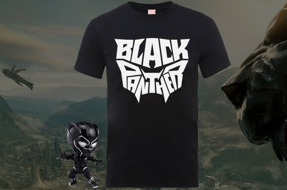 T-SHIRT BLACK PANTHER OFFERT