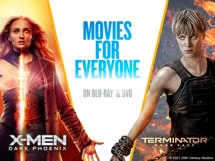 MOVIES FOR EVERYONE BLU-RAY AND DVD