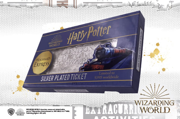 HARRY POTTER SILVER PLATED TICKET