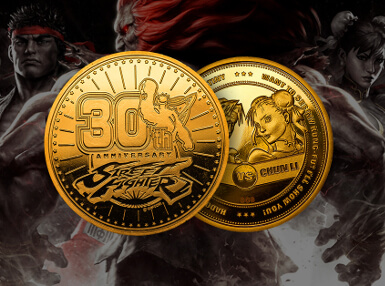 Street Fighter 30th Anniversary Verzamelmunt: Gouden Variant - Zavvi Exclusive