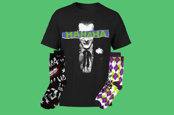 DC COMICS <br>T-SHIRT & SOCK BUNDLE