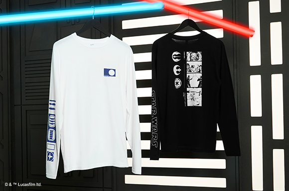 STAR WARS ICON COLLECTION two t-shirts with R2D2 and darth vader.