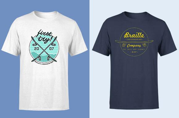 Braille Skateboarding T-Shirts