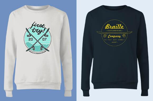 Braille Skateboarding Sweaters