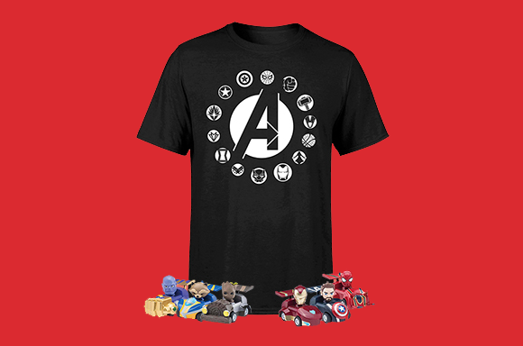 AVENGERS BEAST KINGDOM T-SHIRT & PEN SET BUNDLE