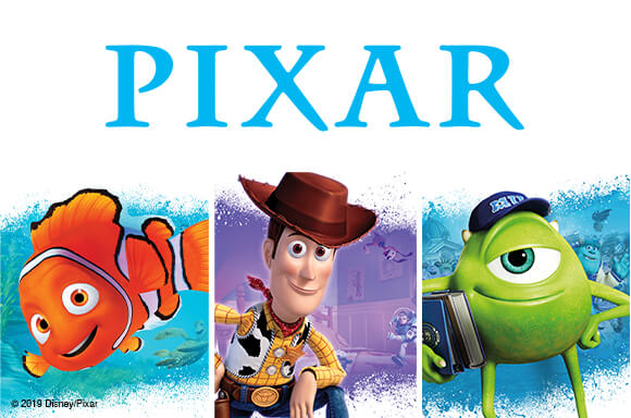 DISNEY PIXAR<br> BLU-RAY & DVD