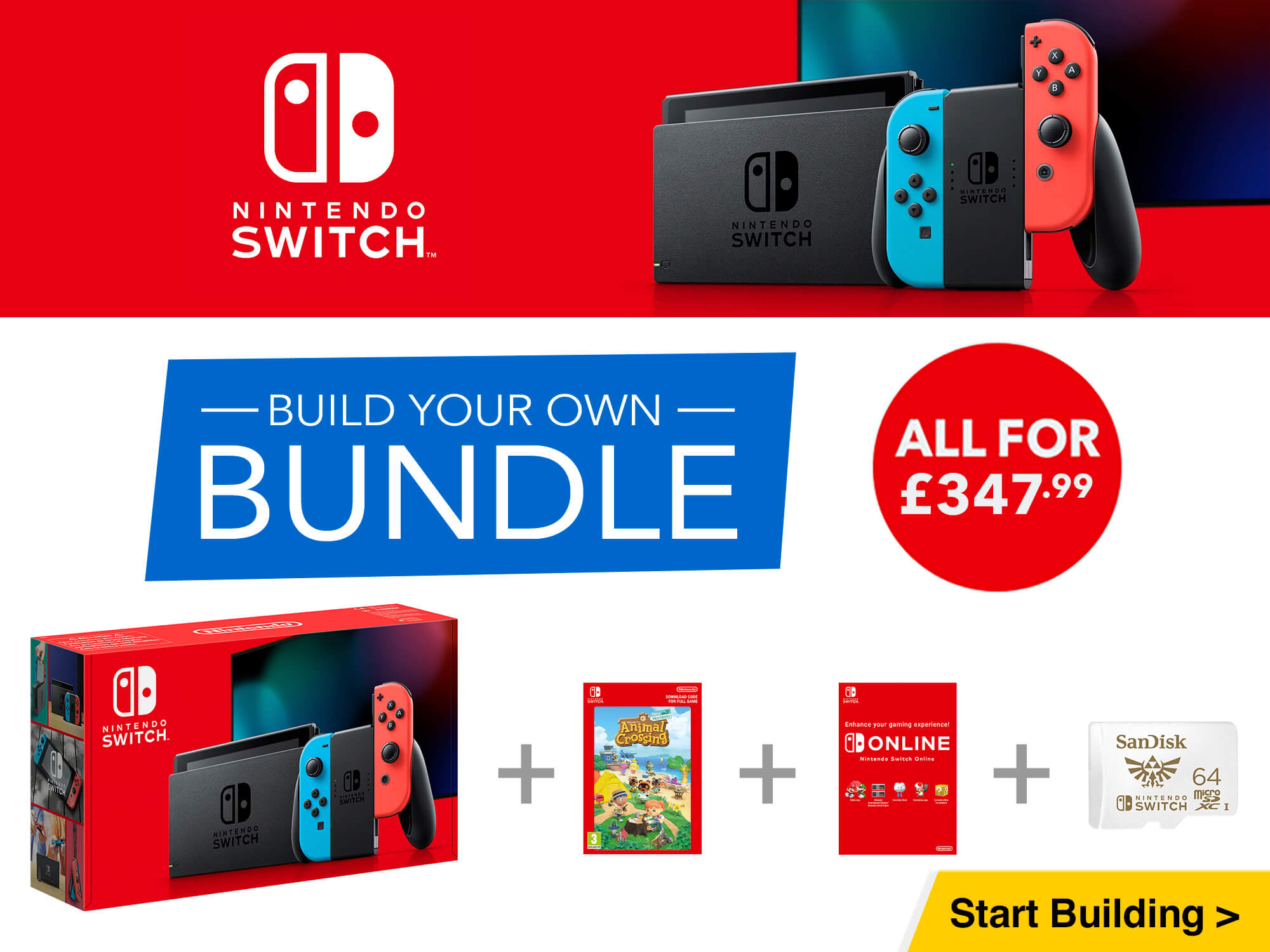 Nintendo Switch - Build Your Own Bundle
