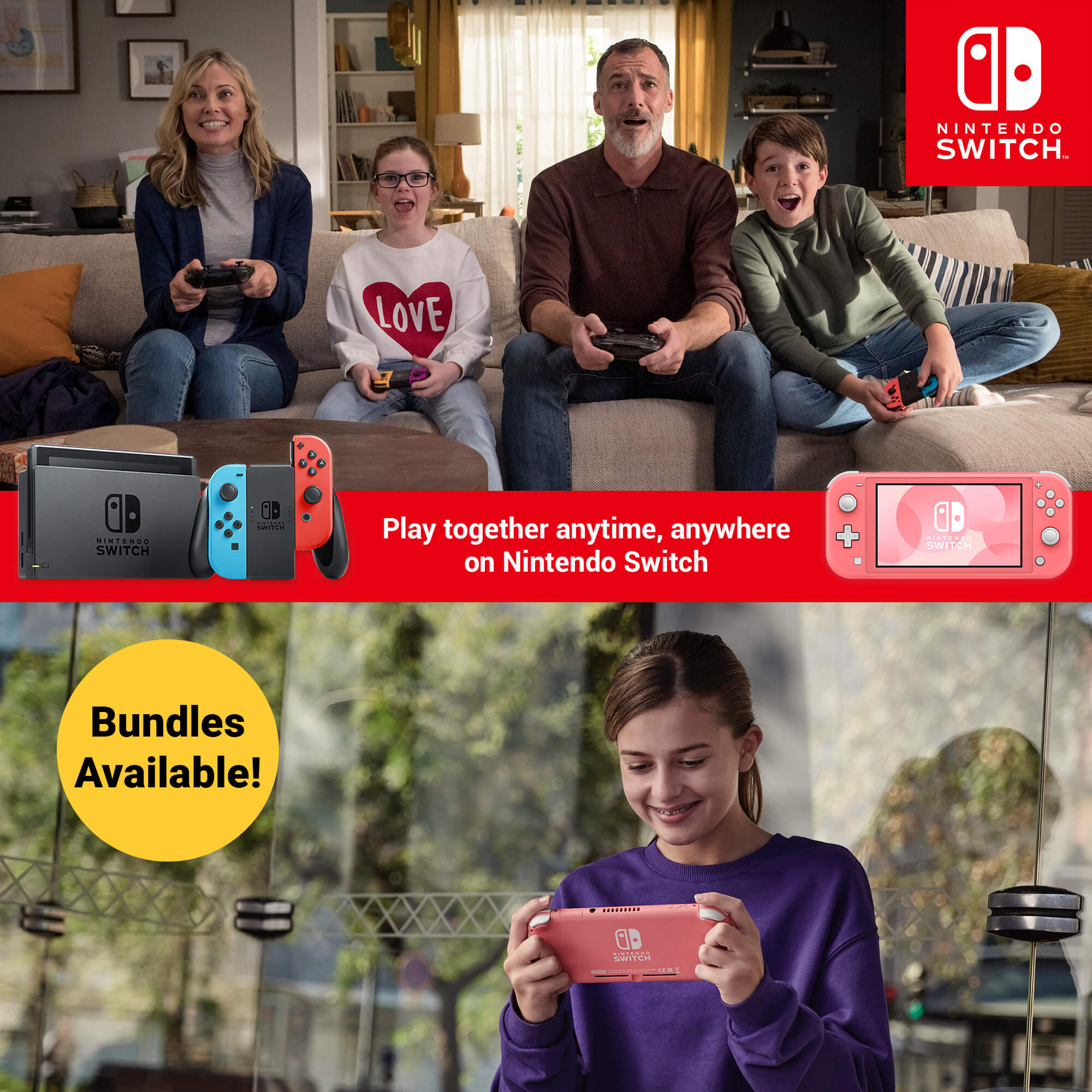 Play anytime, anywhere on Nintendo Switch