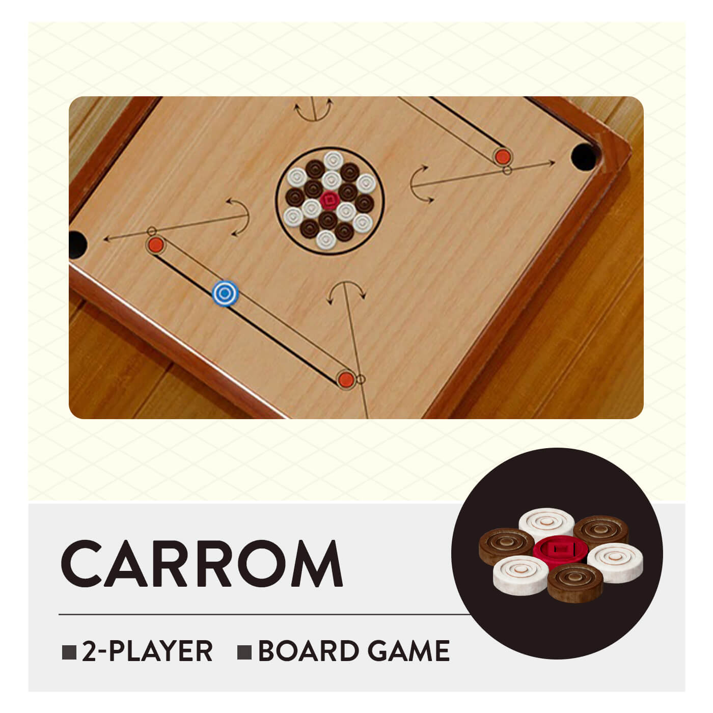 51 Worldwide Games - Carrom