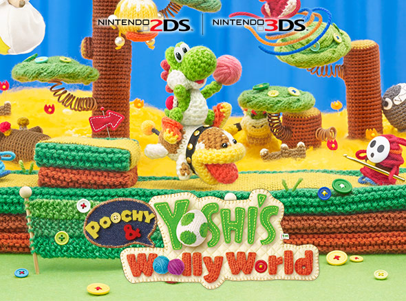 Poochy & Yoshi's Woolly World (Nintendo 3DS)