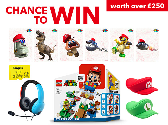 Chance to win a Nintendo Merchandise Bundle worth over £250!