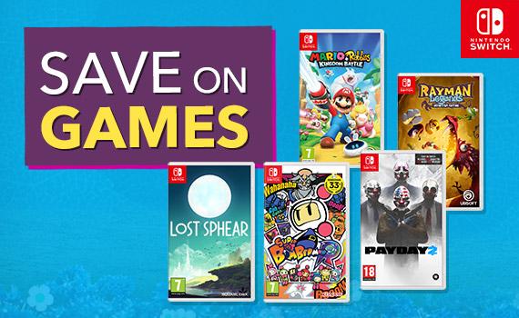<b>Save on Nintendo Switch Games</b>